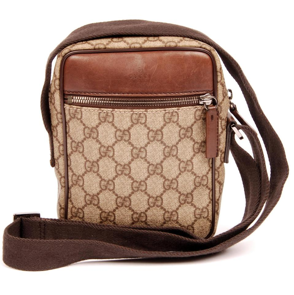 2a4d2d8aa905 Gucci Monogram Canvas Silver Hardware Classic Cross Body Bag Image 0 ...