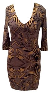 BCBGMAXAZRIA short dress Olive, Black, Tan on Tradesy