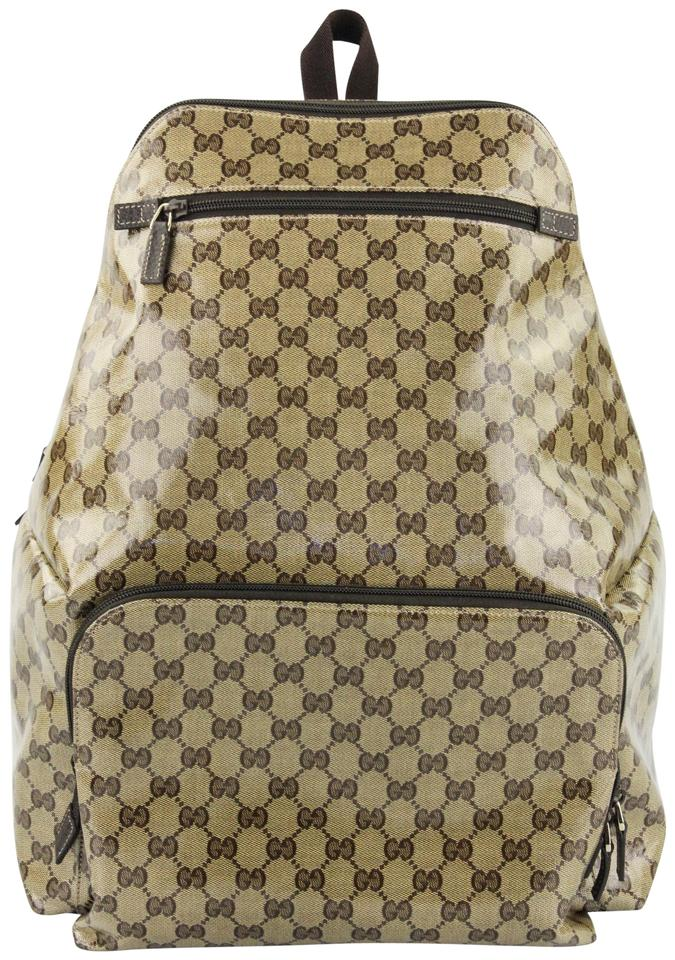 0ea777c93c4c Gucci Crystal Gg Canvas Backpack - Tradesy