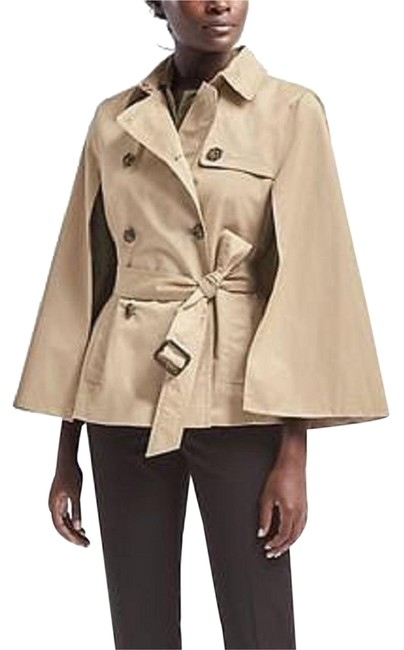 Item - Beige Water Resistant Trench Poncho/Cape Size 2 (XS)