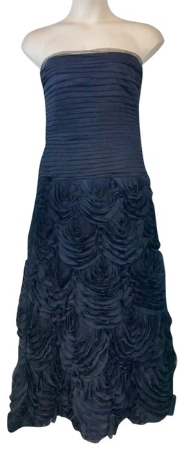 Item - Navy Strapless Evening Gown Long Cocktail Dress Size 12 (L)