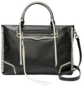 Rebecca Minkoff Satchel in Black/ white