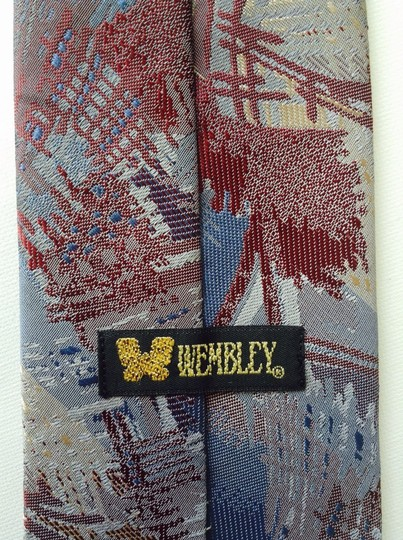 Wembley Wembley Short Textured Necktie Abstract Pattern - Classic Width & Length