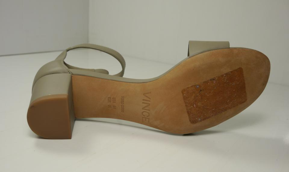 b855adff63e Vince Gray Rita Leather Block Heel Sandals Size EU 35 (Approx. US 5)  Regular (M