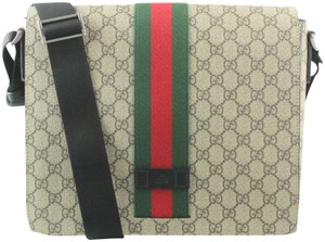 Gucci Web Marmont Dionysus Beige and Brown GG Messenger Bag