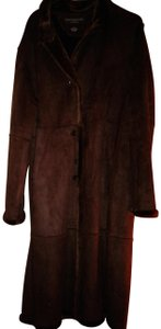 Centigrade Full Length Suede Casual Coat
