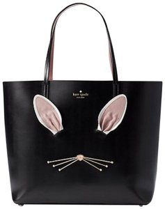 Kate Spade Rabbit Hop To It Tote in black