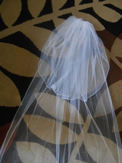 White Long New 2t Charming Cathedral Length Bridal Veils