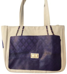 Thursday Friday Tote in Blue And White