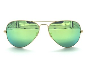 Ray-Ban Ray-Ban Mirrored Green Aviator Sunglasses