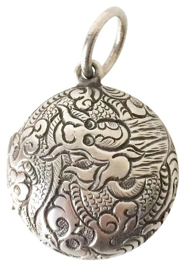 Silpada Silpada Sterling Silver Etched Dragon Locket Image 0