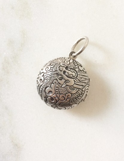 Silpada Silpada Sterling Silver Etched Dragon Locket Image 1