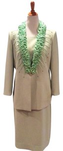 Anthropologie Soft Green Dressy Skirt Suit