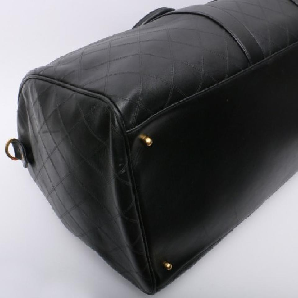 1b5b3a542f4c Chanel Duffle Vintage Quilt Boston Luggage Black Calfskin Weekend ...