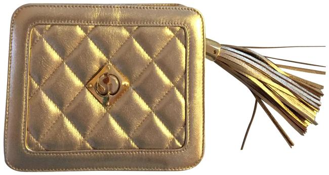 Item - Gold Leather Cross Body Bag