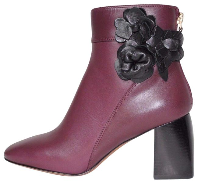 Item - Burgundy Port Box New Blossom Floral Leather Boots/Booties Size US 6.5 Regular (M, B)