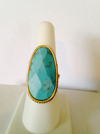 Barse NWOT Faceted Turquoise Gemstone In Gold-Tone Ring, Size 7