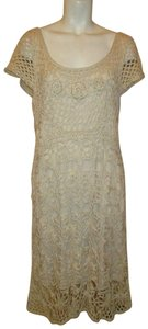 The Pyramid Collection Crocheted Cap Sleeve Dress