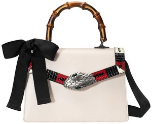 Gucci Sylvie 2017 Marmont Soho Chanel Flap Satchel in Off-White