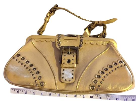 Preload https://item4.tradesy.com/images/isabella-fiore-gold-canvas-and-leather-hobo-bag-2245528-0-1.jpg?width=440&height=440