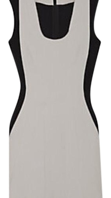 Item - Gray and Black Sheath Stretch Mid-length Night Out Dress Size 2 (XS)