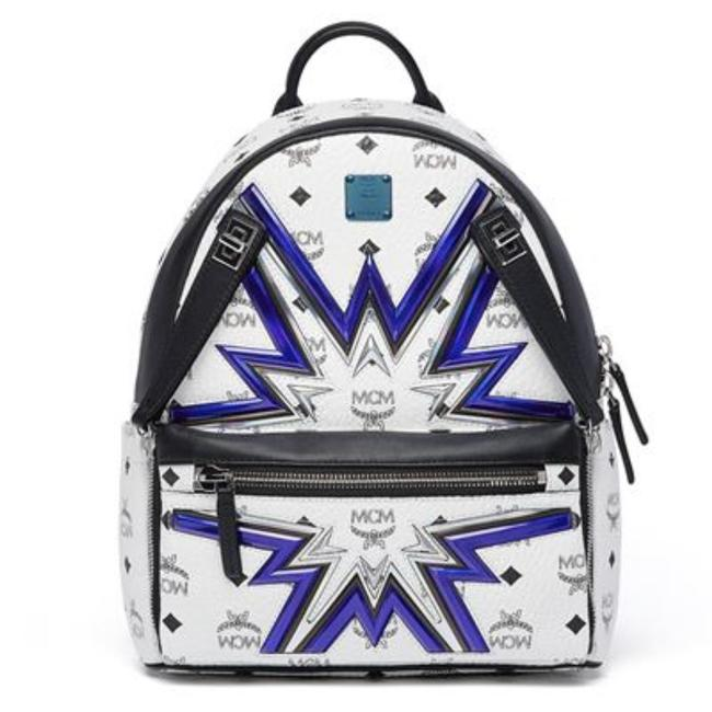 Item - Small Dual Stark Cyber Flash White Leather Backpack