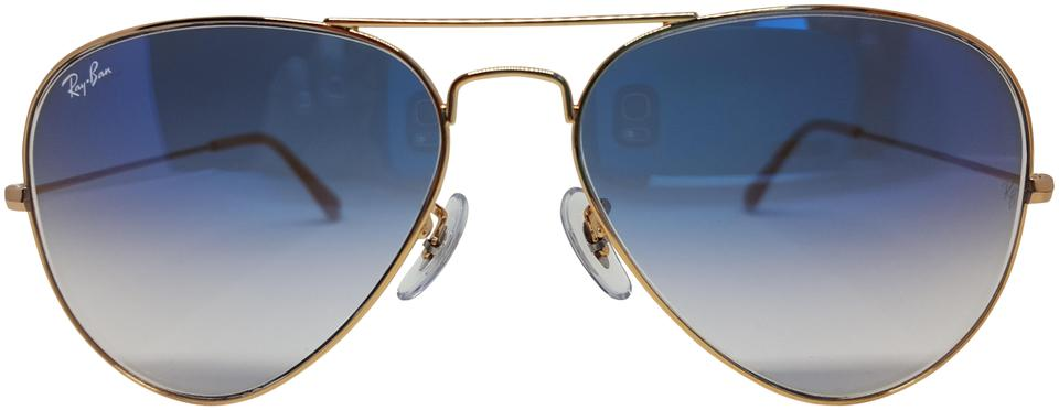 e8a9e5e92e7d Ray-Ban Light Blue Gold Frame Light Gradient Lens Rb3025 001 3f Sunglasses