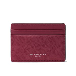 Michael Kors Harrison Malbec Red Leather Boxed Card Case