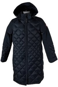 Canada Goose Two-way Zip Storm Placket Rib-knit Collar Duck Down Insulation Made In Fur Coat