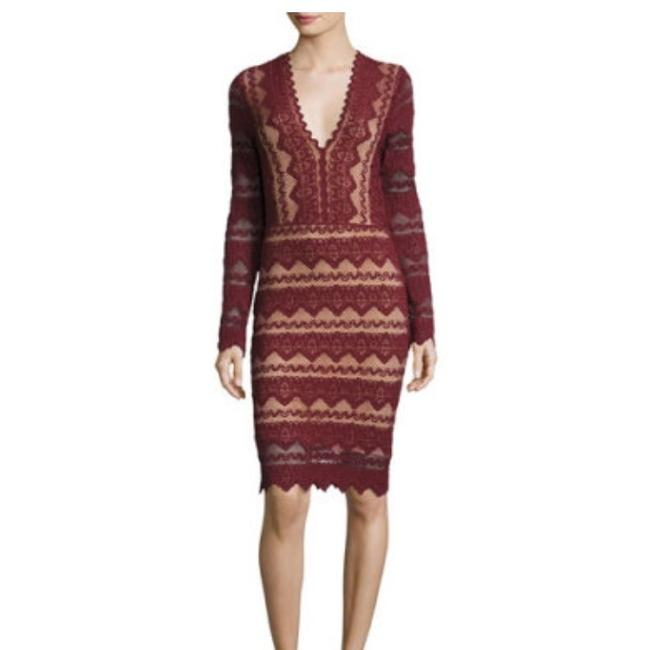 Item - Sierra Lace Deep V Mid-length Night Out Dress Size 0 (XS)