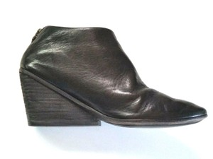 Marsèll Leather Wedges Black Boots