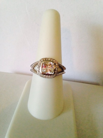 Other Embellished by Leecia NWOT Faceted White Cushion Cut In Sterling Silver Ring, Size 7