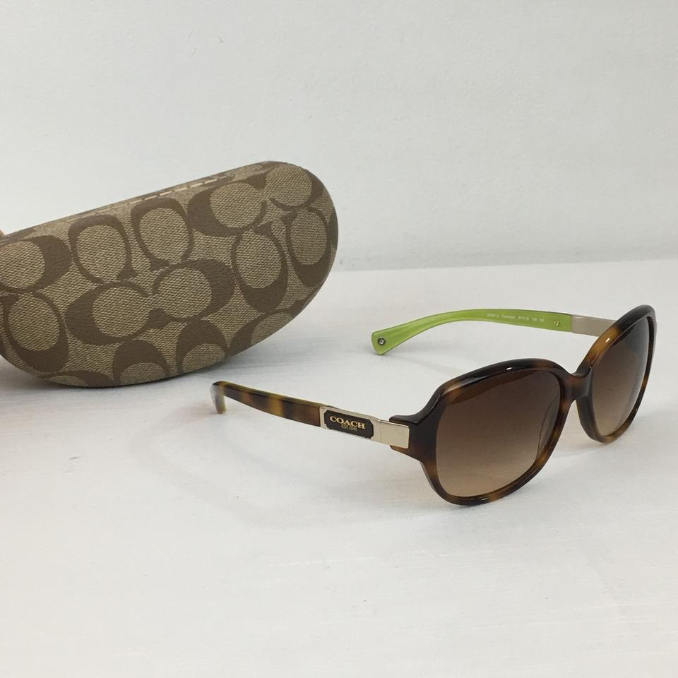 274a9383c9f4 Coach COACH HC 8039 Annette Brown Tortoise Sunglasses With Case Image 6.  1234567