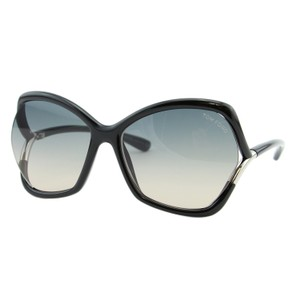 Tom Ford New TOM FORD ASTRID-02 TF-579 01B Black Square Semi-Rimless Sunglasses