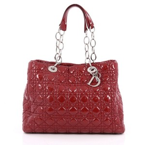 Dior Christian Leather Tote in Red