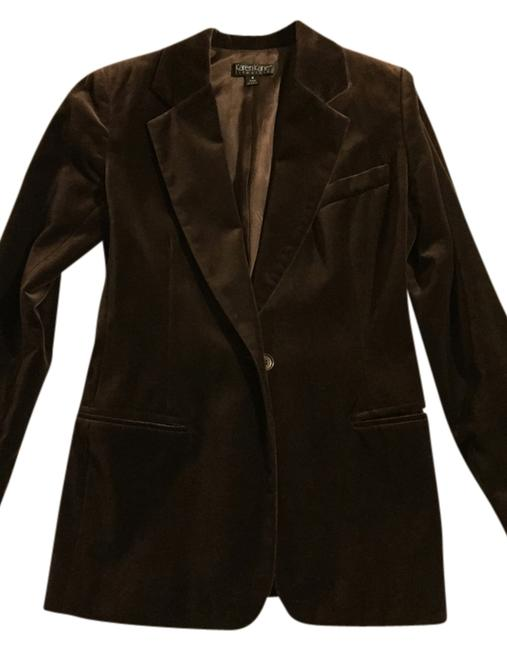 Karen Kane Brown chocolate Blazer