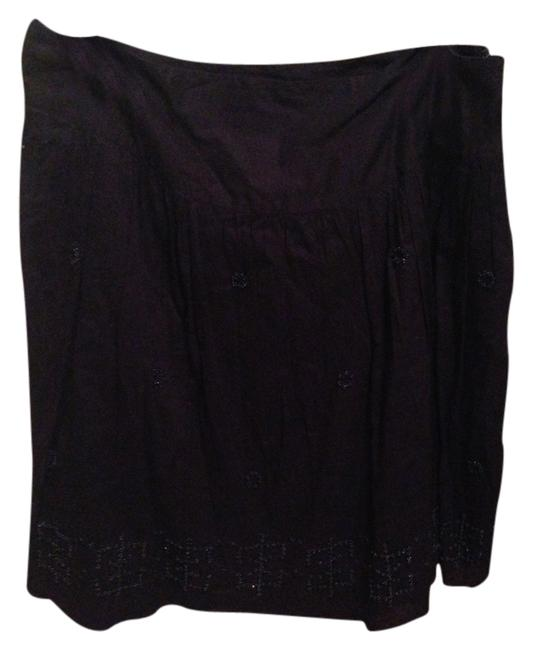 American Eagle Outfitters Beaded Flowy Skirt Navy blue