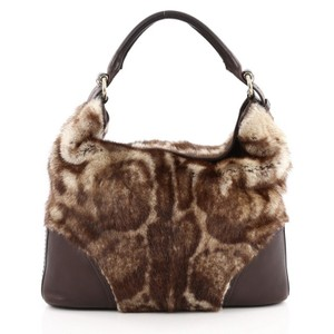d09a68ba8b4 Added to Shopping Bag. Gucci Fur Leather Hobo Bag. Gucci Signoria Large  Brown ...