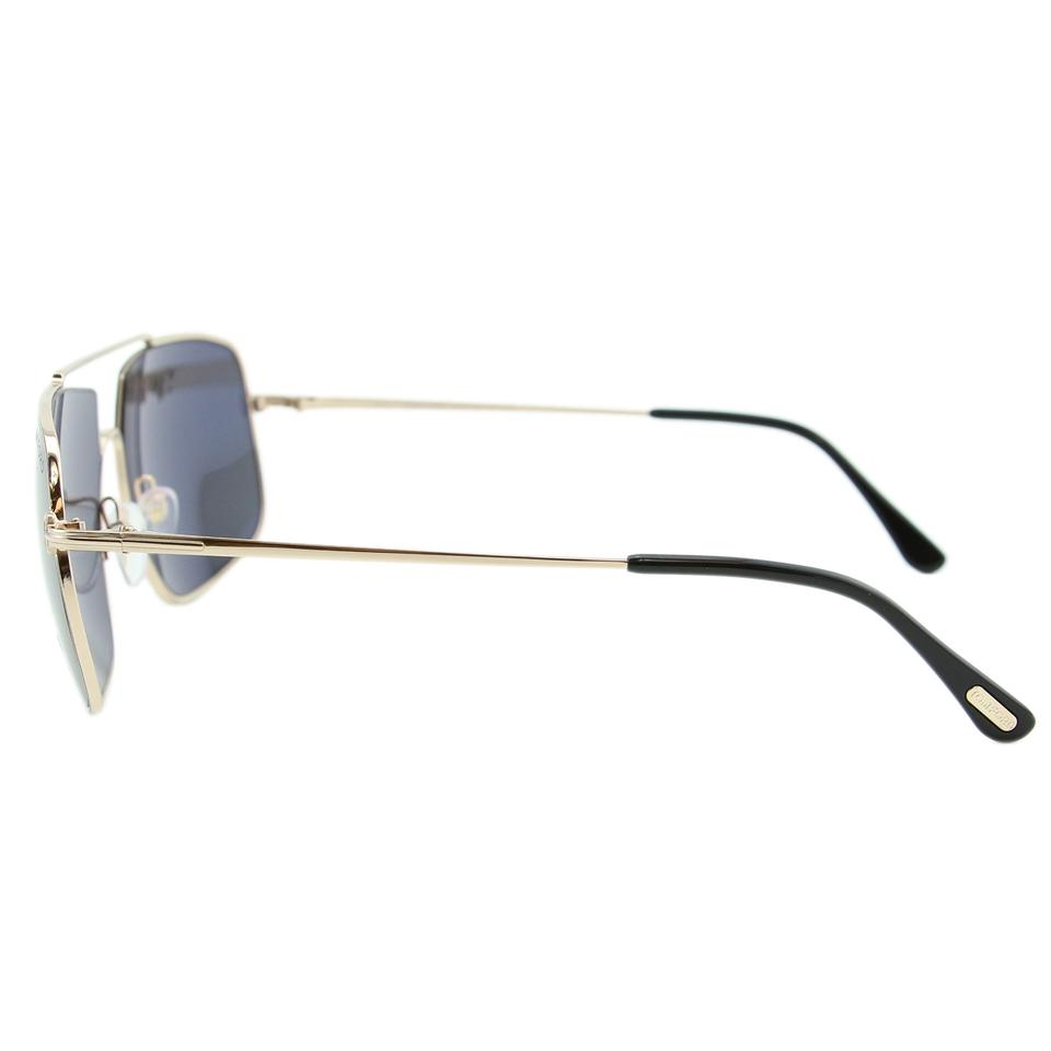 6dfee9e87ac3 Tom Ford Gold New Men Aiden-02 Tf-585 Metal Rectangular Sunglasses - Tradesy