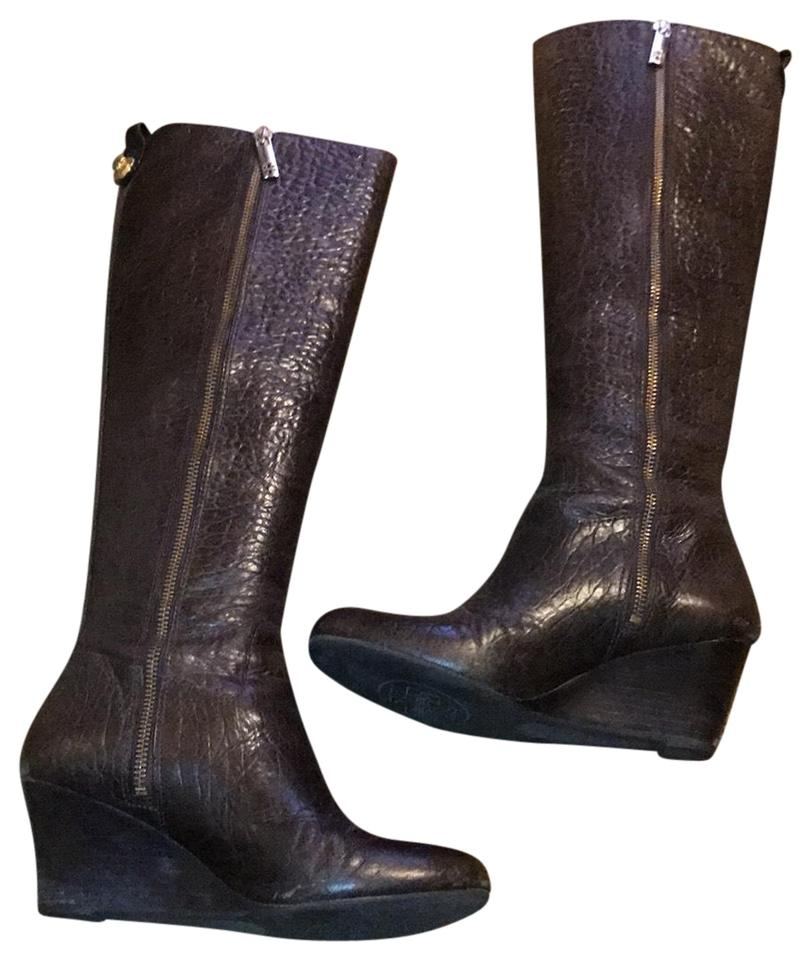 270d07311575 Tory Burch Brown Wedge Boots Booties Size US 7 Regular (M