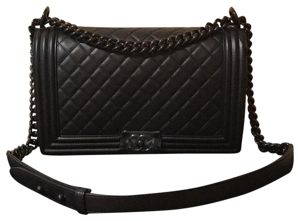 e1b8b29531b5 Chanel Boy New Medium So Black Shoulder Bag - Tradesy