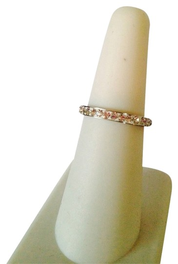 Other Embellished by Leecia NWOT White Crystal In Silver-Tone Band, Size 7