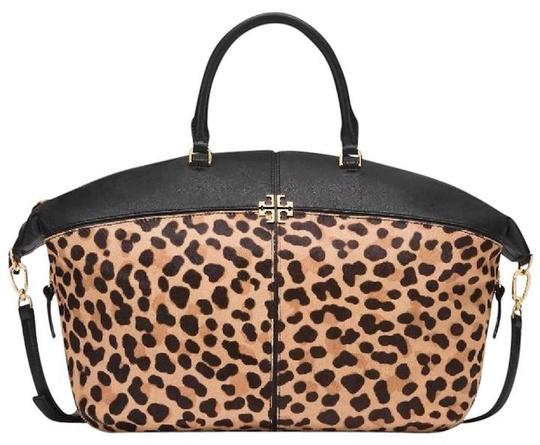 Preload https://item3.tradesy.com/images/tory-burch-ivy-new-tags-animal-print-slouchy-satchel-rare-leopard-black-calf-hair-and-leather-tote-22457557-0-2.jpg?width=440&height=440