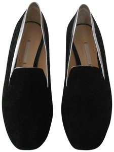 Nicholas Kirkwood Metallic Leather Suede Upper Stylish Made In Italy Black Flats