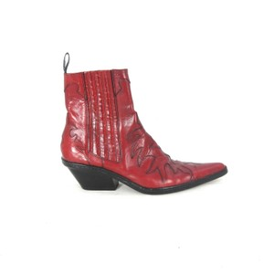 Sartore Leather Cowboy Western RED Boots