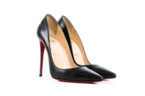 Christian Louboutin Louboutin Leather Pointed Toe Black Pumps