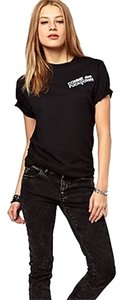 Nasty Gal/by Lori's Fashion T Shirt Black w White Print