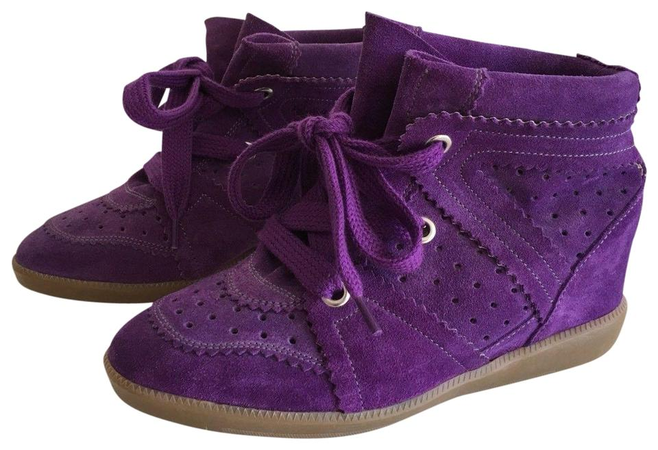 5edf6db34f Isabel Marant Purple Bobby Suede Leather Sneakers Sneakers Size EU ...