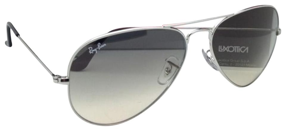 48a5cd010 Ray-Ban Rb 3025 Large Metal 003/32 58-14 Silver Aviator W/ Grey 003 ...