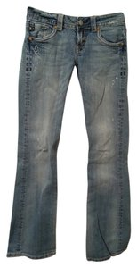 MEK DNM Blue Kailua Pants Denim Boot Cut Jeans-Light Wash